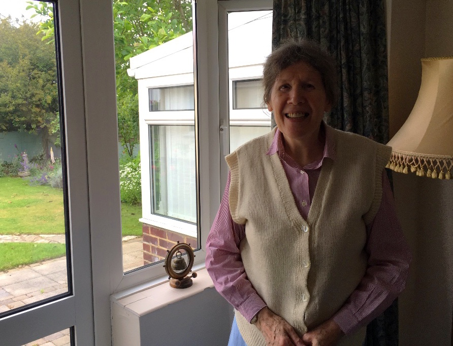Thelma Parker at home in Southern England
